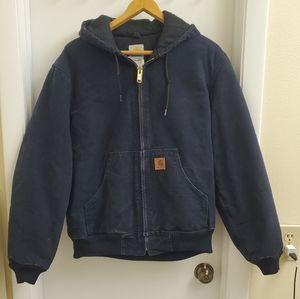 Vintage carhartt quilted lined fleece jacket
